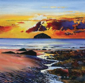 Ailsa Craig a limited edition print by Davy Brown