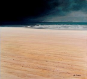 Approaching Storm Cefn Sidan a limited edition print by Ceri Auckland Davies